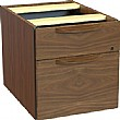 Signature Wood Veneer 2 Drawer Fixed Pedestals