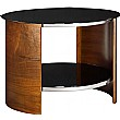 Spectrum Real Wood Veneer Round Occasional Table W
