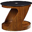 Spectrum Real Wood Veneer Oval Occasional Table