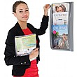 A4 Three Pocket Wall Mounted Leaflet Dispenser