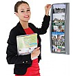 A5 Four Pocket Wall Mounted Leaflet Dispenser