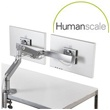 Humanscale M8 Monitor Arms With Crossbar