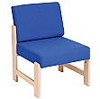 Heavy Duty Solid Beech Wooden Low Reception Chair