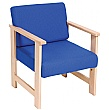 Heavy Duty Solid Beech Reception Armchair