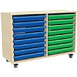 16 Tray Mobile Art & Paper Storage Unit
