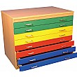 8 Drawer Multi-Coloured Plan Chest