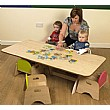 Luna Rectangular Nursery Table