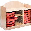 Stretton 12 Shallow Tray Storage Unit With Adjusta