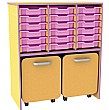 Edge 18 Tray Storage Unit With Docking Space