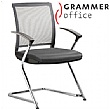 Grammar Office SAIL Mesh & Leather Cantilever Conf