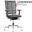 Grammar Office SAIL Leather Swivel Conference Chai