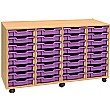 4 Store 32 Tray Shallow Storage Unit