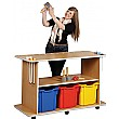 Mobile Musical Instruments Trolley With 3 Extra De