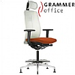 Grammer Office GLOBEline Ring Base High Back Mesh & Microfibre Chair With Headrest