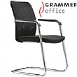 Grammer Office GLOBEline Mesh & Fabric Cantilever Side Chair