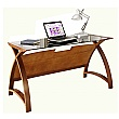 Spectrum Real Wood Veneer Laptop Desk Walnut