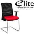 Elite Merge Mesh Back Chrome Cantilever Chair Arms
