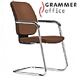 Grammer Office GLOBEline Leather Cantilever Side Chair