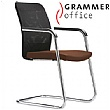 Grammer Office GLOBEline Mesh & Leather Cantilever Side Chair