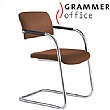 Grammer Office Match Leather Cantilever Chair