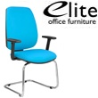 Elite Worx Cantilever Meeting Chair Chrome Frame