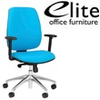 Elite Worx Upholstered Task Chair Chrome Base