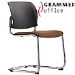 Grammer Office Passu Leather Upholstered Cantilever Side Chair