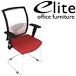 Elite Loreto White Mesh Cantilever Meeting Chair