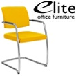 Elite Moda Upholstered Open Back Meeting Chair