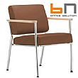BN Zone Leather Visitor Armchair