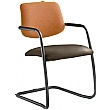 Theo Leather & Mesh Cantilever Conference Chair