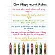 Crayons Playground Rules School Sign