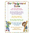 Pencil Playground Rules School Sign