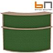 BN Velum Modular Reception - High Upholstered External Corner Unit