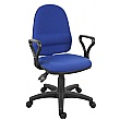 Ergo Twin Operator Chair Fixed Arms