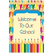 Coloured Pencils Welcome Sign