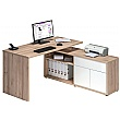 Naples Computer Desk Beech/White Gloss
