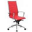 Abbey High Back Red Leather Office Chairs