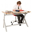 Titan Height Adjustable Classroom Table Double