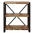Accrington Reclaimed Wood Open Bookcases