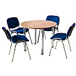 NEXT DAY Unite Tubular Leg Bundle Deal - Round Meeting Table With 4 Chairs