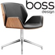 Boss Design Kruze 4 Star Swivel Chair With Wood Veneer