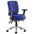 Vital 24Hr Ergonomic Medium Back Chair Blue