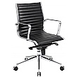 Abbey Medium Back Leather Office Chairs