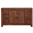 Fernhurst Solid Walnut Six Drawer Sideboard