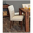 Fernhurst Solid Walnut Upholstered Dining Chairs (Pair)