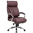 Savona Top Leather Executive Office Chair Brown