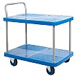 Two Teir Plastic Trolley