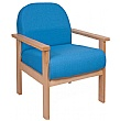 Deluxe Solid Beech Wooden Reception Armchair