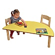 Height Adjustable Half Moon Classroom Table